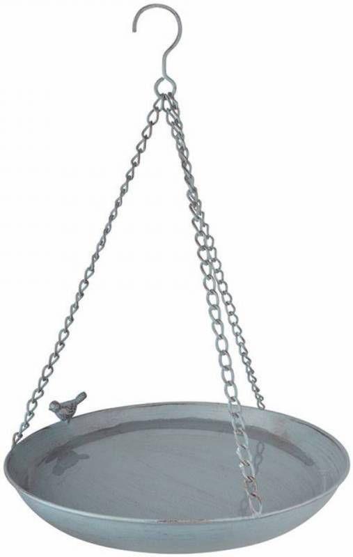 Merkloos 2 Stuks Grey Metal Hangend Vogelbad online kopen