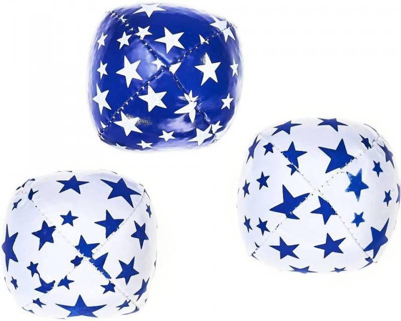 Acrobat Jongleerballen 80 Gram Blauw/wit 3-delig online kopen