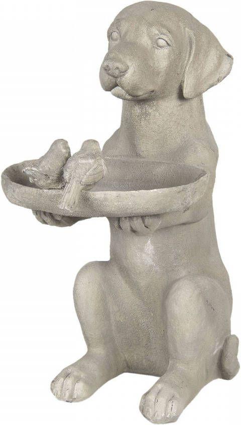 Clayre & Eef Vogelbad 6pr2902 38*26*48 Cm Grijs Kunststof online kopen