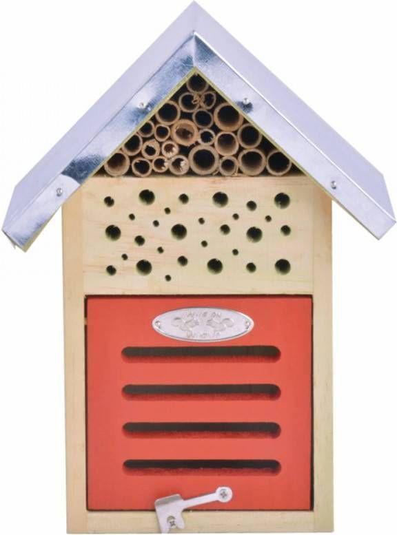 Merkloos Insectenhotel 18 X 15 X 24 Cm Insectenhotel online kopen