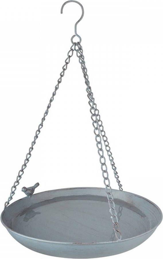 Merkloos Vogelbad/voederschaal Hangend Rond Metaal 30,4 X 30,4 Cm Vogeldrinkschaal/voederbak Tuindecoraties online kopen