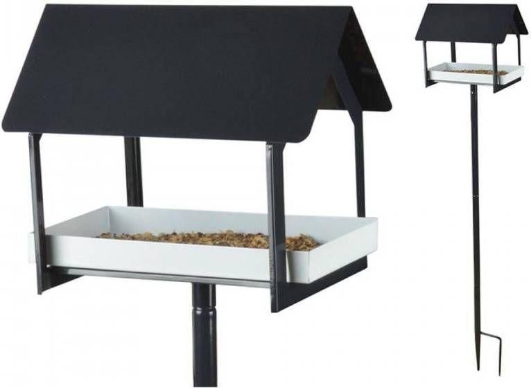 Esschert Voedertafel Op Pin Antraciet/Wit online kopen