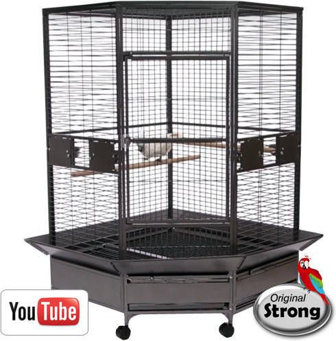 Strong Papegaaienkooi Dahlia grijs online kopen