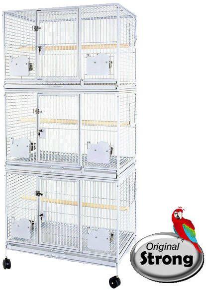 Onbekend Papegaaienkooi Flight Cage Triple Grijs online kopen