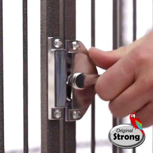 Strong Papegaaienkooi Rhea Grijs online kopen