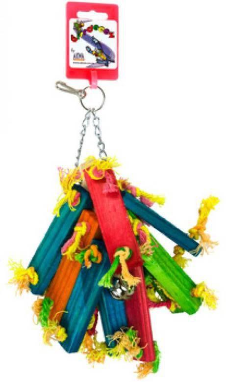 Birrdeeez Vogelspeelgoed Wood Bunch 21 cm online kopen