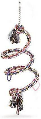 Beeztees Vogelschommel voor papegaaien spiraalvormig 20 x 60 cm katoen 5166 online kopen