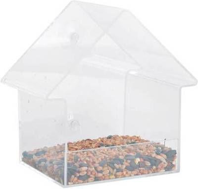 Esschert Design Voederhuisje voor het raam acryl 15x10x15, 3 cm FB370 online kopen