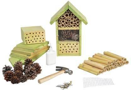 Merkloos Doe-het-zelf Insectenhotel/insecten Nestkast 26 Cm Insectenhotel online kopen