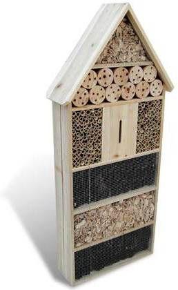VidaXL Insectenhotel XXL 50 x 15 x 100 cm online kopen