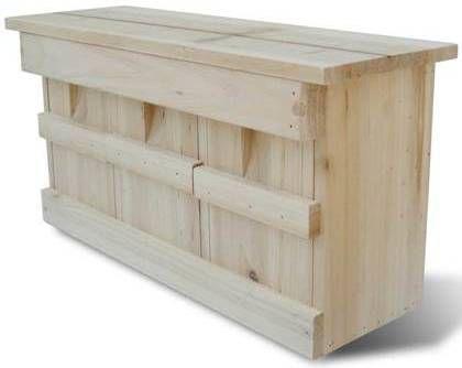 VidaXL Nestkast voor huismus 44 x 15,5 x 21,5 cm online kopen