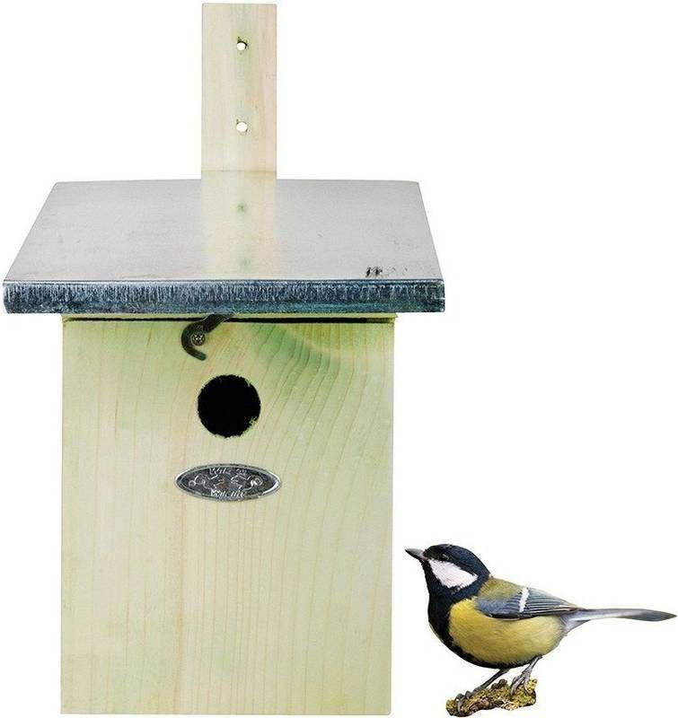 Merkloos Houten vogelhuisje/nestkastje koolmees 33 cm online kopen