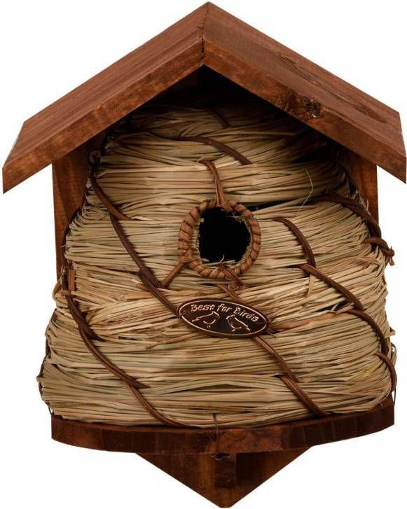 Merkloos Vogelhuisje/nestkastje bijenkorf 25.8 cm online kopen