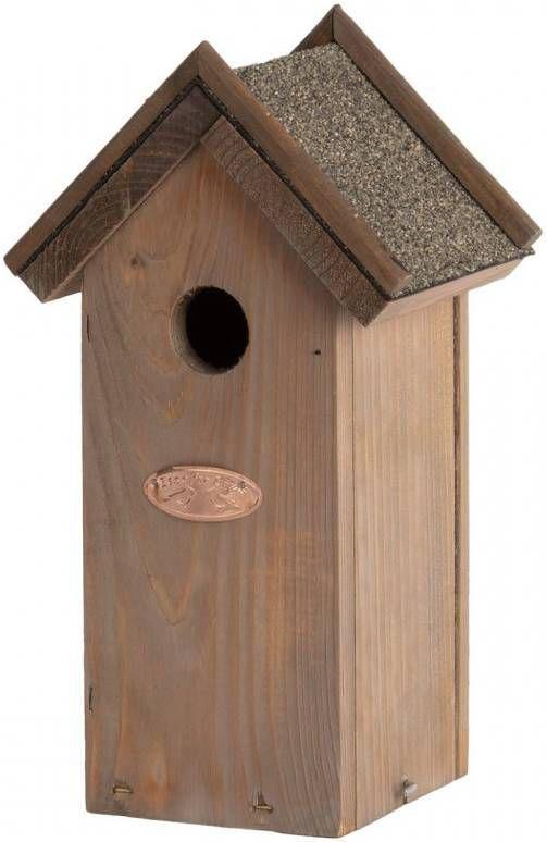 Merkloos Vogelhuisje/nestkastje pimpelmees/pimpelmeesjes met bitumen dakje 27,4 cm online kopen
