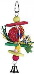 Beeztees Houten Vogelspeeltje Trinox Multi 22 cm online kopen