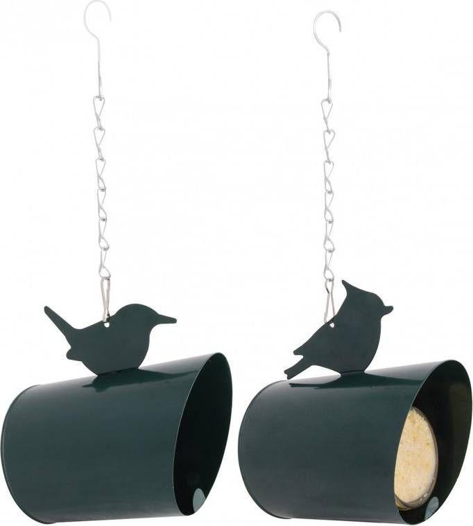 Best For Birds Pindakaas Huisje Metaal Voederhuis 11x15x15 cm Groen online kopen