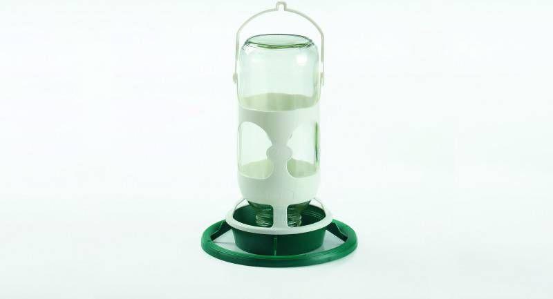 Fauna Hangpot Glas Zonder Gaten Duiven Voerbak Drinkbak 1 l Groen Wit online kopen