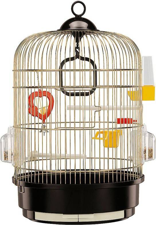 Ferplast Vogelkooi Regina Full Optional Vogelverblijven Zwart&Messing online kopen