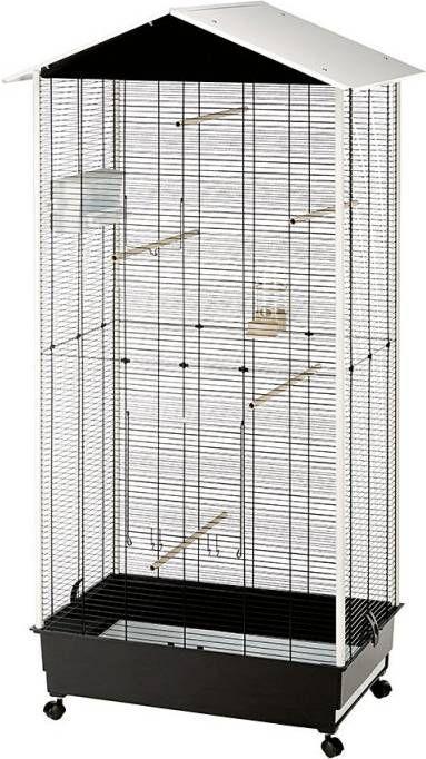 Ferplast Voliere Nota Vogelverblijven 76.5x57x161.5 cm Zwart Wit online kopen