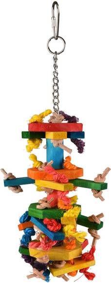 Flamingo Vogelspeelgoed Ace Multi Vogelspeelgoed 8x8x27 cm Mix online kopen