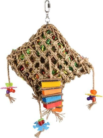 Flamingo Vogelspeelgoed Net Vierkant Vogelspeelgoed 28x10x45 cm Multi-Color online kopen