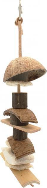 Happy Pet Vogelspeelgoed Kokosnoot Kebab Vogelspeelgoed 36x14x9.5 cm online kopen