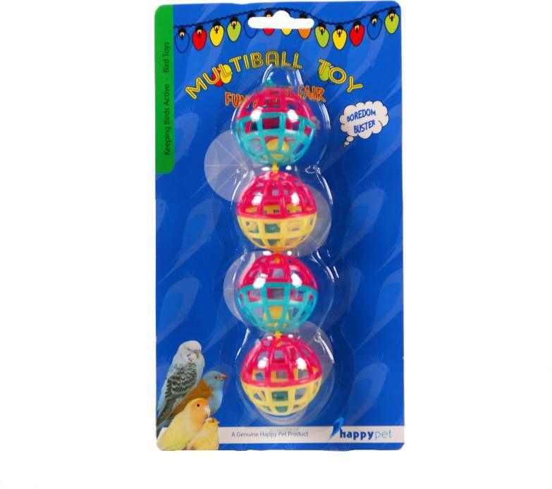 Happy Pet Vogelspeelgoed Met Ballen En Bellen Vogelspeelgoed 20x4 cm Multi-Color online kopen