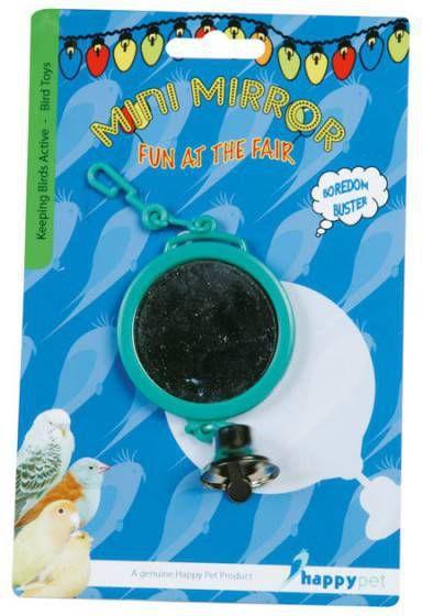 Happy Pet Vogelspeelgoed Spiegel Met Bel Vogelspeelgoed Ø 7.5 cm online kopen