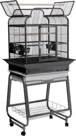 Strong Papegaaienkooi Villa Gaia Vogelverblijven 68x53x139 cm Zilvergrijs online kopen