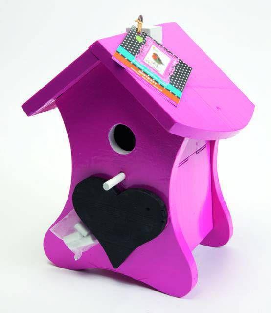 Buzzy Birds Nestkast krijt Roze Ral 4010 en het stokje Ral 9016 online kopen