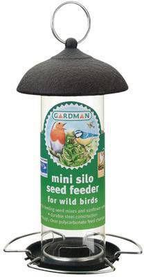 Mini Silo Zaad Feeder (Gegalv/Zwart) online kopen
