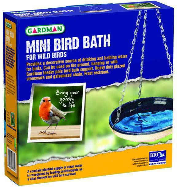 Mini Vogelbad geglazuurd in doos online kopen