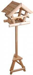 Esschert Design Voedertafel voor vogels met rieten dak online kopen
