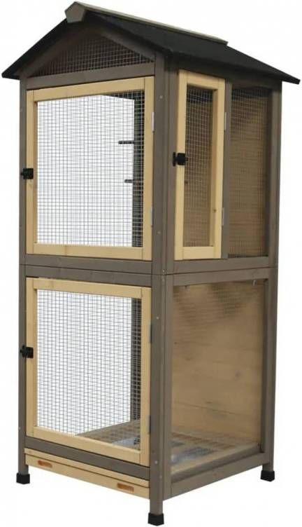 Duvo+ Volière Citadel Country 70x70x151 cm hout online kopen