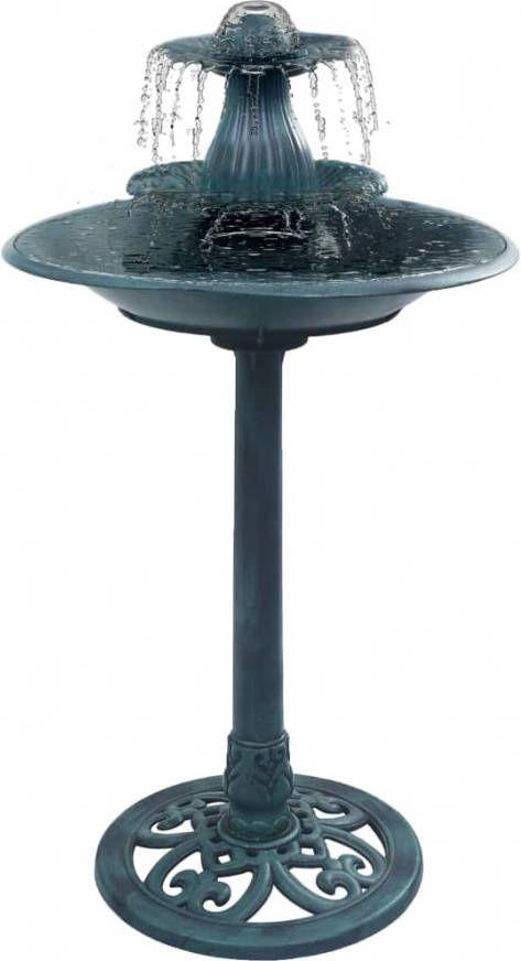 VidaXL Vogelbadje met fontein 50x91 cm kunststof groen online kopen